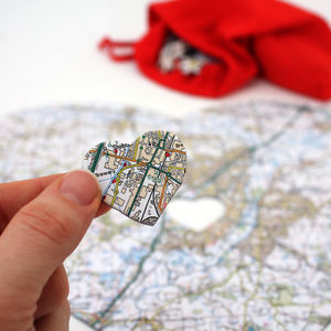 Personalised Heart Postcode Map Jigsaw - gifts for the home