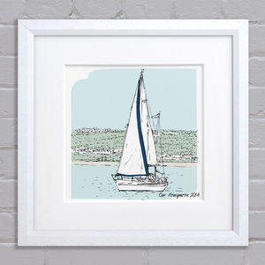 Personalised Boat Illustration - posters & prints