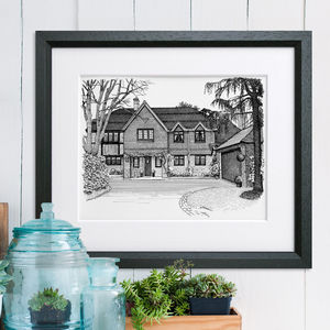 Detailed House Or Venue Illustration - gifts for him