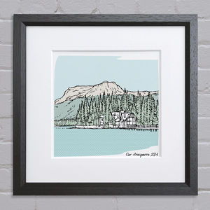 Personalised Favourite Place Illustration - art-lover