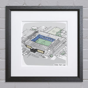 Sports Stadium Bespoke Illustration - Rugby World cup