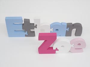 Free Standing Name Puzzle - decorative letters