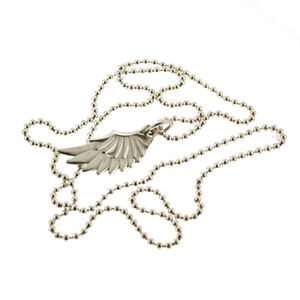 Silver Wing Pendant With 18' Silver Chain - men's jewellery