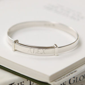 Personalised Christening Baby Bangle