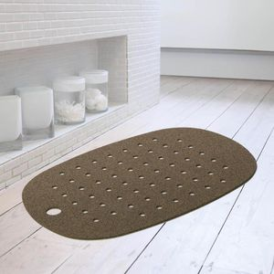 Cork And Rubber Bath Mat, Dark Cork - bath mats