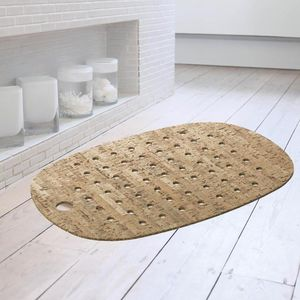 Cork And Rubber Bath Mat With Natural Cork Veneer - bathroom