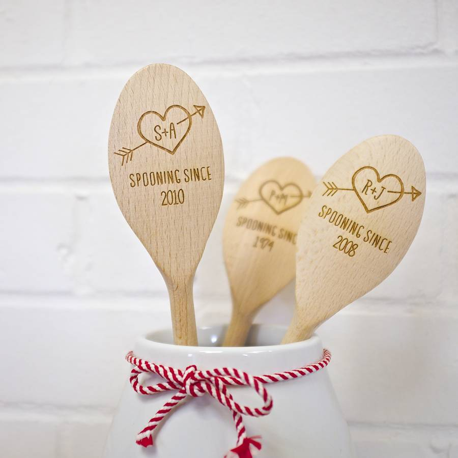 Personalised Wooden Love Spoon By Auntie Mims