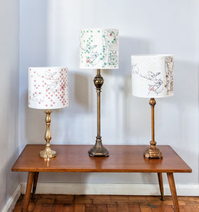 Dotty Bird Luxury Lampshade - dining room