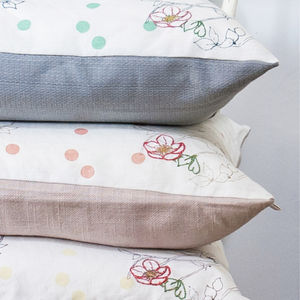 Dotty Bird Luxury Cushion - patterned cushions