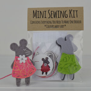 Mini Mouse Brooch Sewing Kit