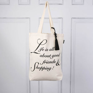 Canvas Shopping Bag - women's sale