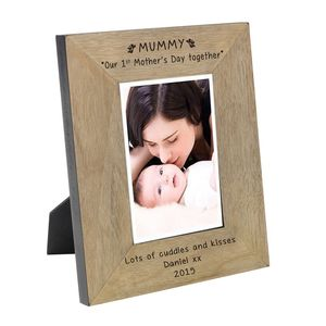 Engraved 1st Mother's Day Together Photo Frame