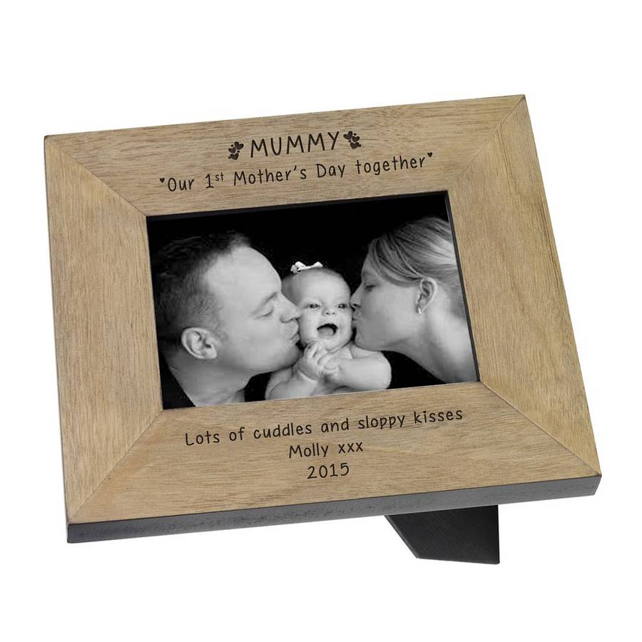engraved 1st mothers day together photo frame