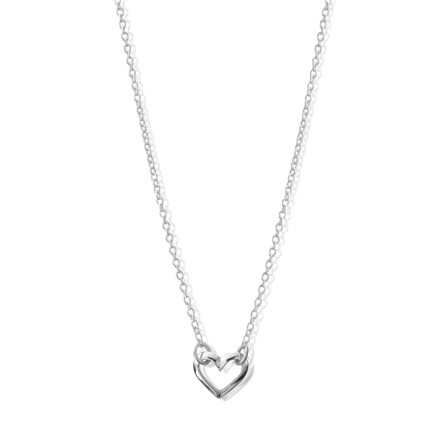Silver Heart: Solid Silver Heart Pendant Necklace By Amara Amara