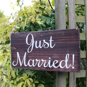 Just Married Handmade Wedding Sign - outdoor decorations