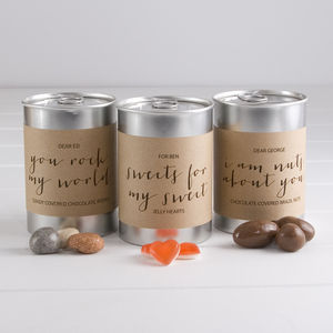 Personalised Tin Of Sweet Treats - love tokens for him
