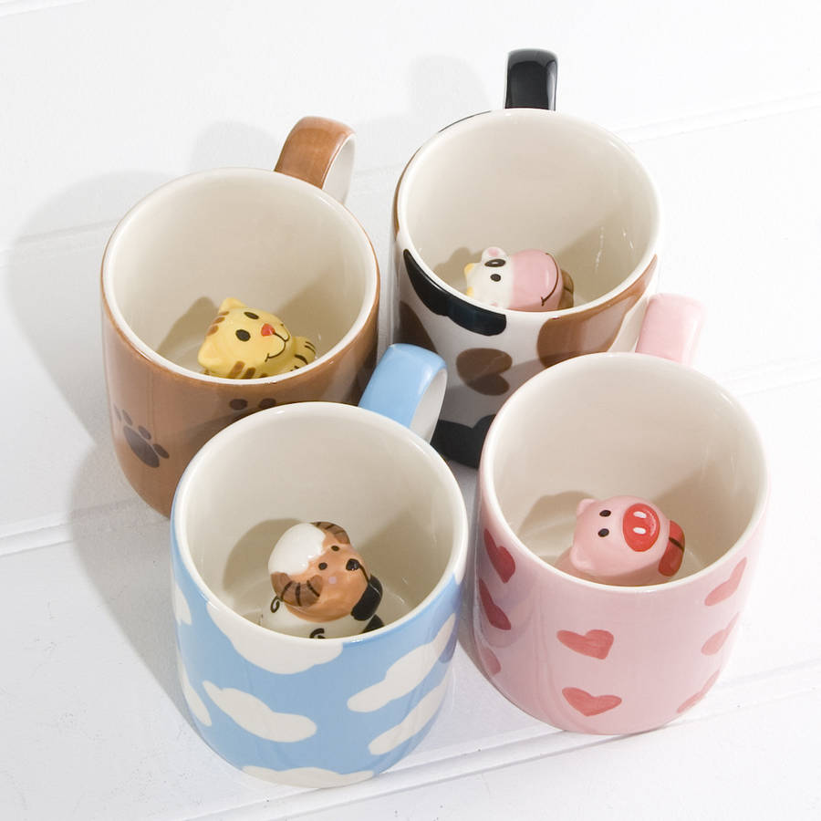 peekaboo animal mugs by twenty six degrees
