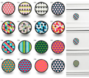 Geometric Pattern Cupboard Cabinet Knobs - door knobs & handles