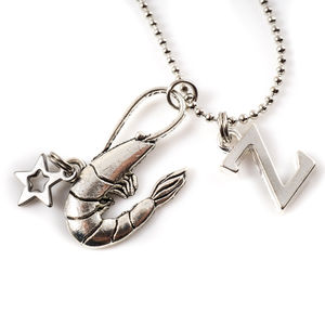Little Shrimp Charm Necklace