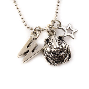 Little Hamster Charm Necklace - children's jewellery