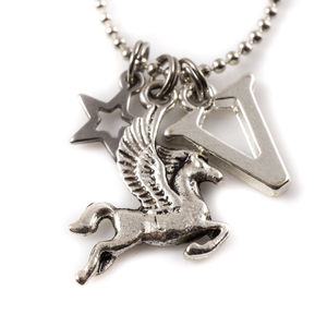 Pegasus Charm Necklace - personalised