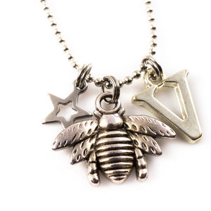 Personalised Bee Charm Necklace