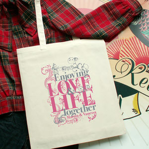 Love And Life Tote Bag