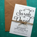 Bold Text A5 set with rustic twine