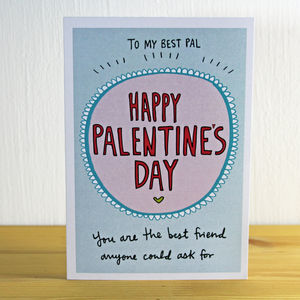 'Happy Palentine's Day' A6 Greetings Card - valentine's cards