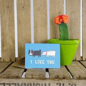 'I Like You' Greeting Card - shop by occasion