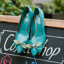 Nancy Leather Court Shoes