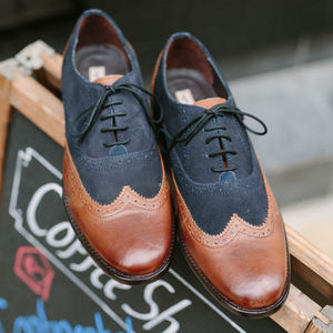 Elliott Leather And Suede Brogue