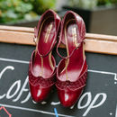 Bessie Leather T Bar Shoes