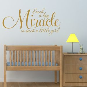 Girl's Nursery Quote Wall Sticker