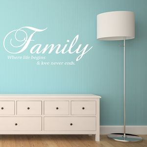 Family Vinyl Wall Sticker