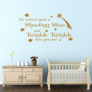 Baby's Nursery Quote Wall Sticker - children's room accessories