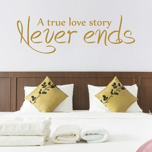 Love Story Quote Wall Sticker - home decorating