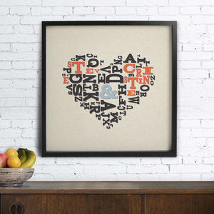 Personalised Love Letters Poster - posters & prints