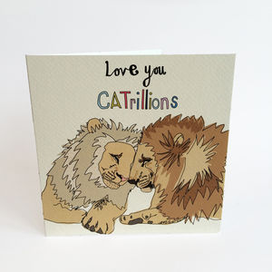 Love You Catrillions Greeting Card - wedding, engagement & anniversary cards