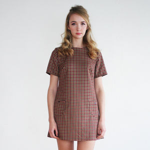 Alexa Heritage Check Shift - dresses