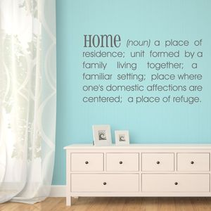 Home Definition Wall Sticker - wall stickers
