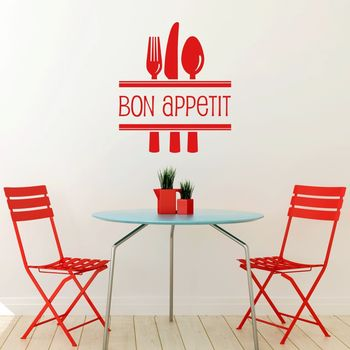 'Bon Appetit' Vinyl Wall Sticker