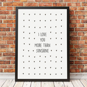Personalised 'I Love You More Than' Print