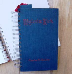 'Malcolm Kirk' Upcycled Notebook