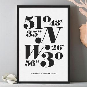 Personalised Monochrome Coordinates Print