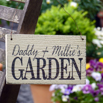 Personalised Vintage Style Garden Sign
