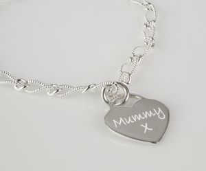 Personalised Charm With Satin Twisted Chain