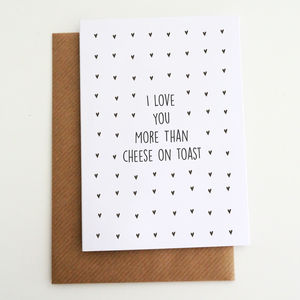 'I Love You More Than' Personalised Card - wedding gifts & cards sale