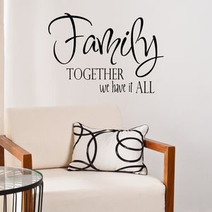 Family Quote Vinyl Wall Sticker - wall stickers