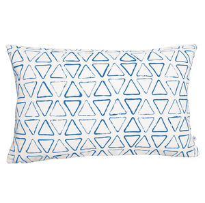 Personalised Cotton Triangle Print Oblong Cushion Cover